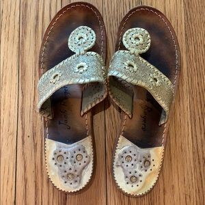 Gold Jack Rogers size 8